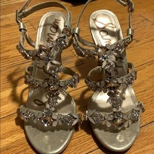 Sam Edelman rhinestone heeled sandals
